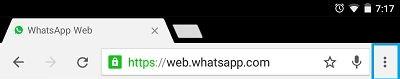 chrome browser whatsapp web
