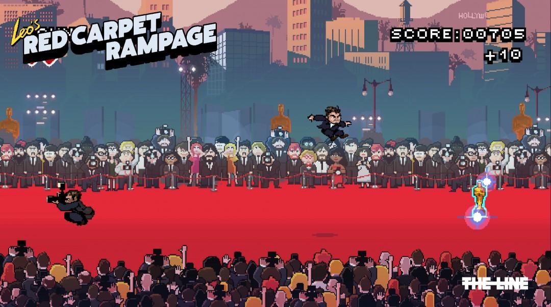 Leonardo DiCaprio diventa un videogame in stile Super Mario