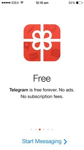 telegram pubblicità