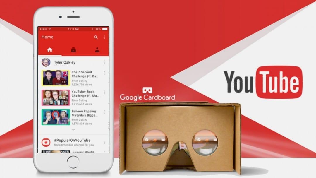 Youtube: arriva il supporto per Google CardBoard su mobile