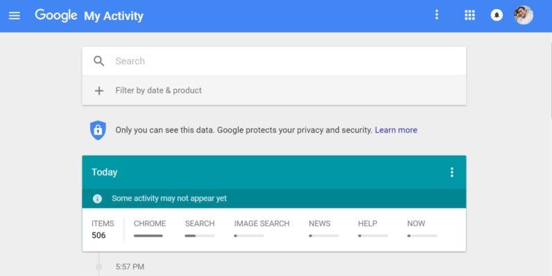 MyActivity è il nuovo sito di Google