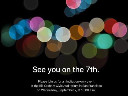 iPhone 7: evento di lancio confermato per il 7 settembre