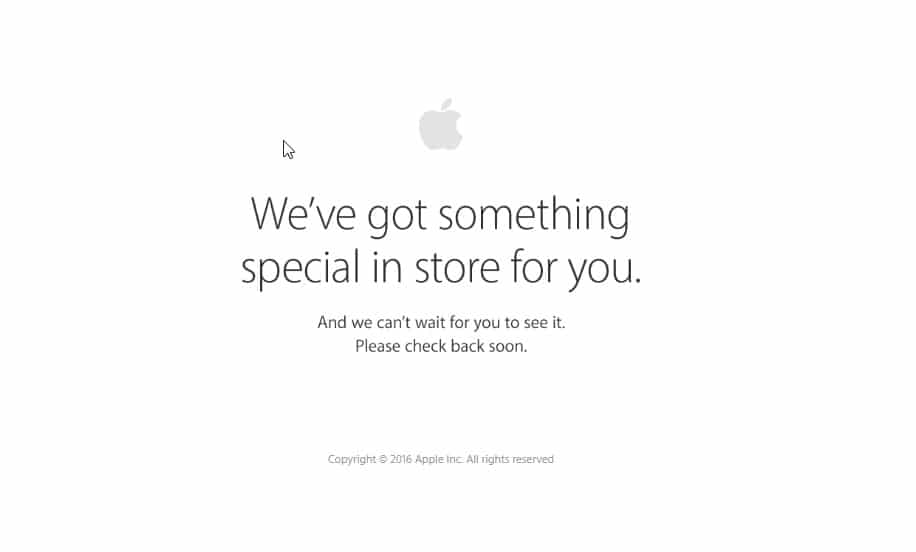 Apple Store offline: arriva l'iPhone 7
