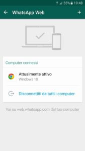 privacy sulle chat di whatsapp web