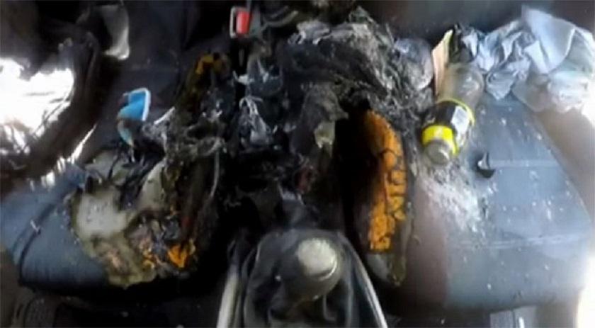 iPhone 7 esploso in un'auto
