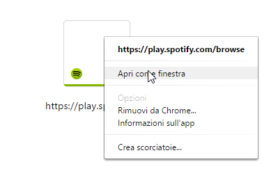 spotify web player chrome app