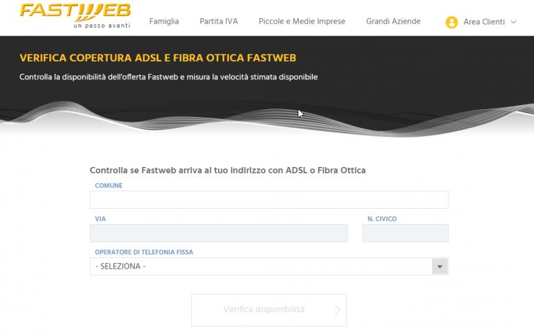 copertura fastweb