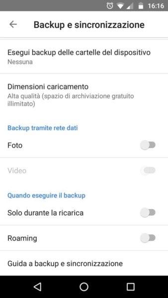 google foto backup