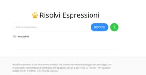 Risolvi espressioni