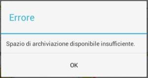 Come risolvere spazio di archiviazione insufficiente su Android