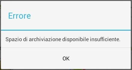 Spazio di archiviazione insufficiente: ecco la soluzione